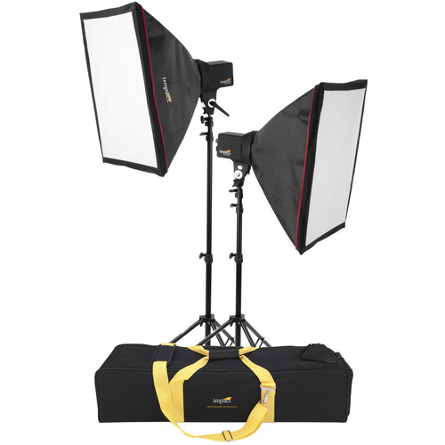 Impact EX100 Two-Monolight Kit with Stands and Case