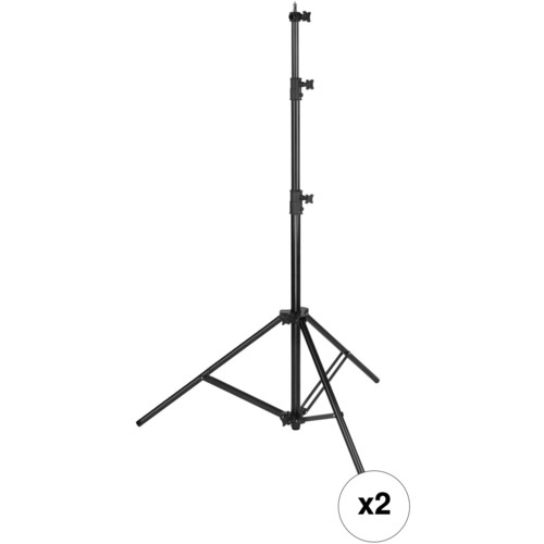 Impact Heavy-Duty Air-Cushioned 9.5' Light Stand (Set of 2, Black)