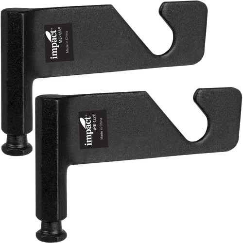 Impact ME-122P Single Background Holder Hooks for Super Clamps (2-Pack)