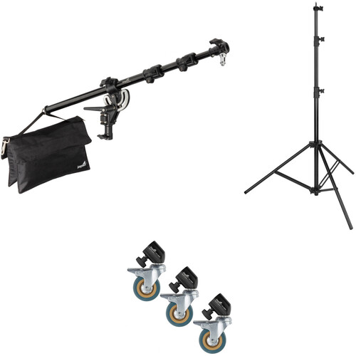 Impact Mid-Range Boom Arm with Light Stand & Casters Kit