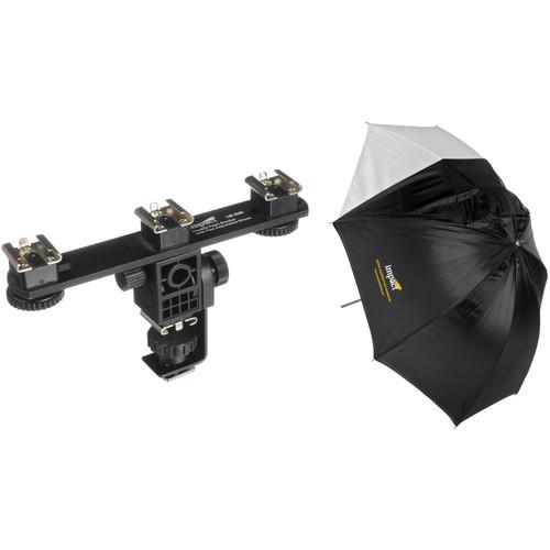 "Impact Multi Shoe Umbrella Bracket with Convertible White Umbrella (32"")"