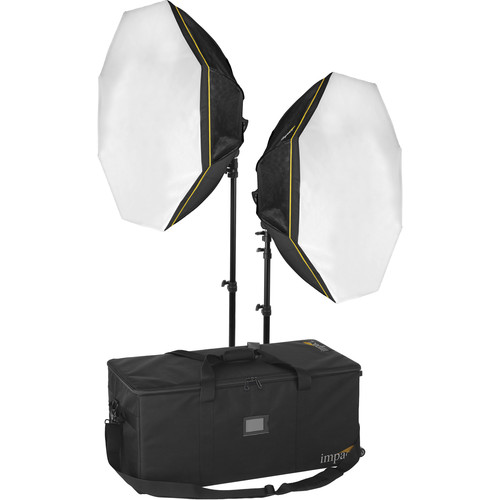 Impact Octacool-6 Fluorescent 2-Light Kit with Case and Stands