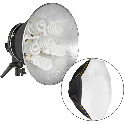Impact Octacool-6 Fluorescent 2-Light Kit with Softboxes and Bag