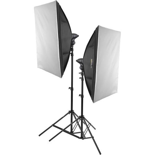 Impact Photo Studio 2-Light LED Kit