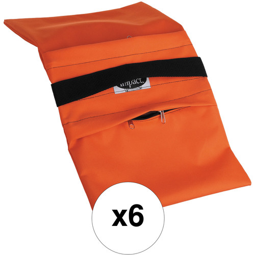 Impact Empty Saddle Sandbag Kit, Set of 6 - 18 lb (Orange)
