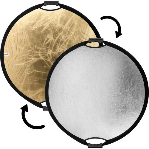 Impact Circular Collapsible Reflector with Handles (22', Gold/Silver)