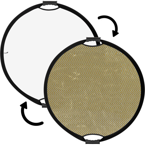 "Impact Circular Collapsible Reflector with Handles (22"", Soft Gold/White)"