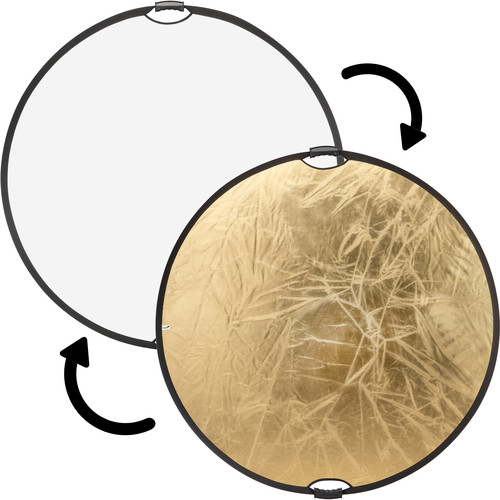 """Impact Circular Collapsible Reflector with Handles (32"""", Gold/White)"""