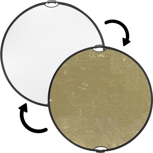 """Impact Circular Collapsible Reflector with Handles (32"""", Soft Gold/White)"""