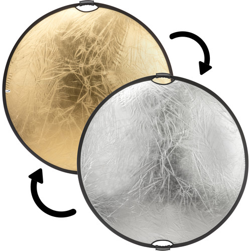 "Impact Circular Collapsible Reflector with Handles (52"", Gold/Silver)"