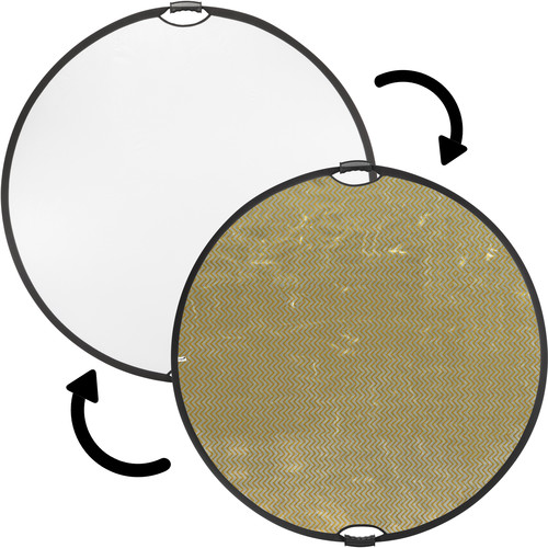 """Impact Circular Collapsible Reflector with Handles (52"""", Soft Gold/White)"""