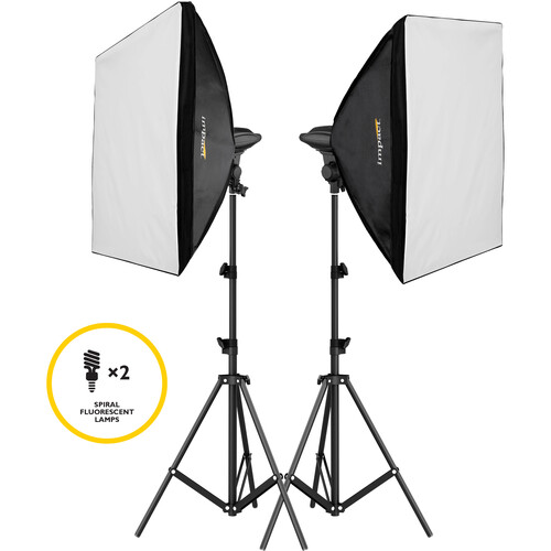 Impact Soft and Natural Single Socket 2-Light Kit