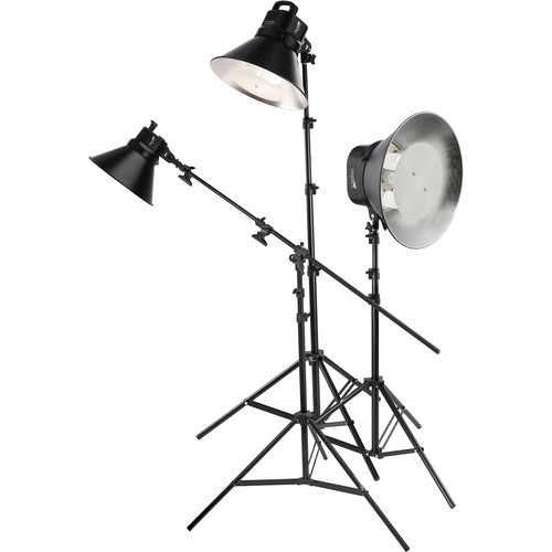 Impact Three-Light Fluorescent Cool Light Kit with Stands
