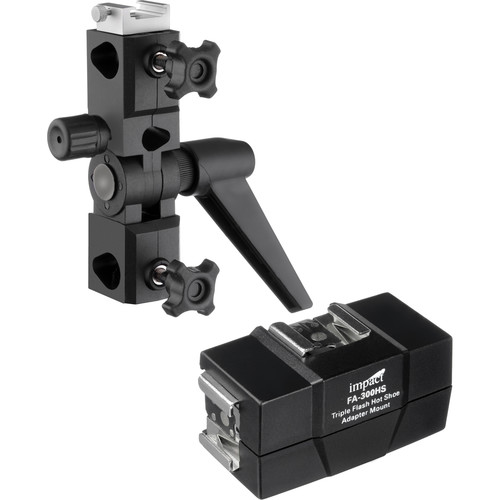 Impact Triple-Flash Hot-Shoe Adapter Mount Kit