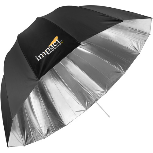 "Impact Medium Deep Silver Umbrella (41"")"