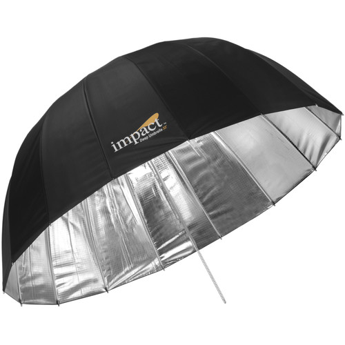 "Impact Small Improved Deep Silver Umbrella (33"")"