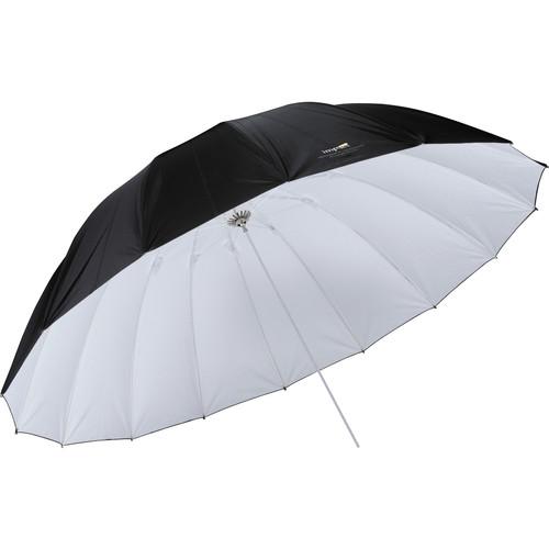 Impact 7' Improved Parabolic Umbrella (White/Black)