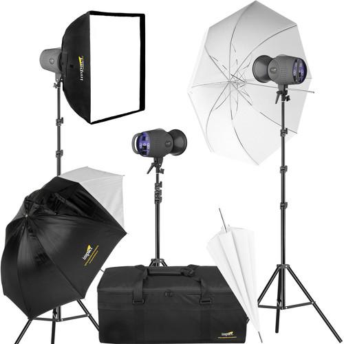 Impact VS-LCD400 400Ws Monolight 3 Point Kit