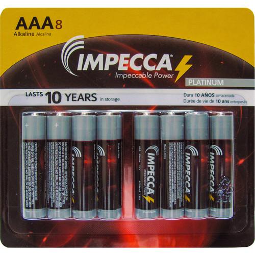 Impecca Alkaline AAA Batteries (8-Pack)