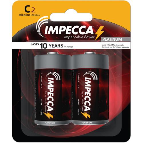 Impecca Alkaline C Batteries (2-Pack)