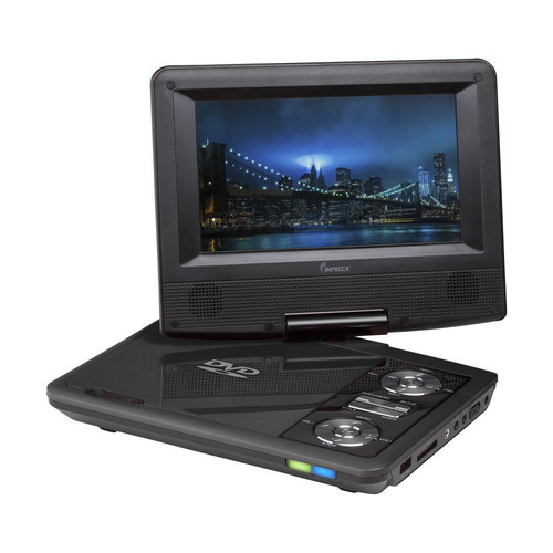 "Impecca 7"" Portable 270° Swivel DVD Player (Black)"