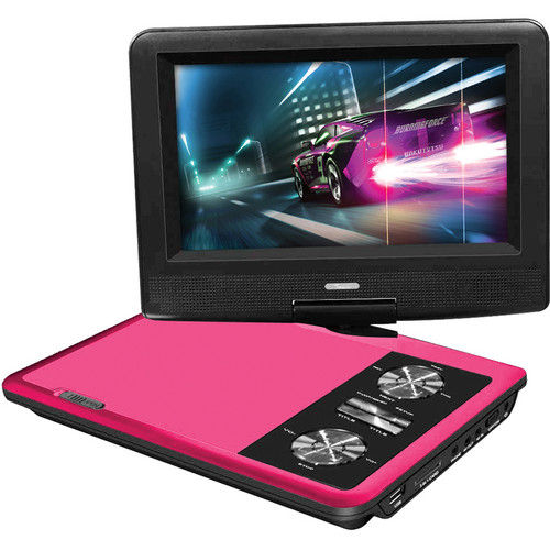 "Impecca 7"" Portable 270° Swivel DVD Player (Pink)"