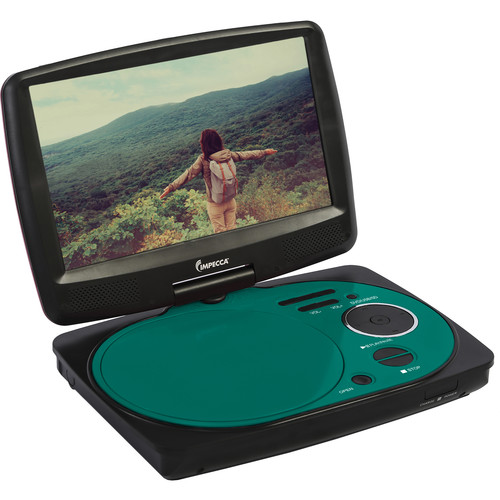 "Impecca 9"" Portable Swivel Multisystem DVD Player (Teal)"