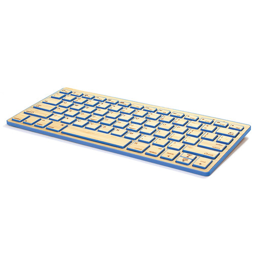 Impecca Bamboo Bluetooth Compact Wireless Keyboard (Blue Satin)