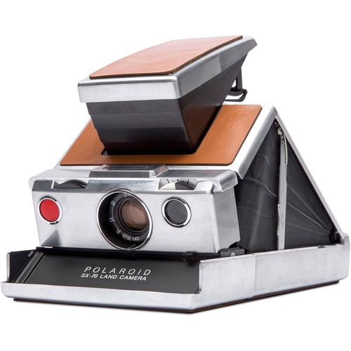 Polaroid Originals SX-70 Instant Film Camera (Silver and Brown)