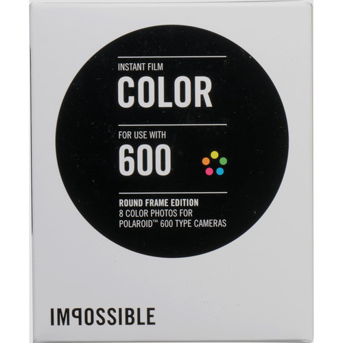 Impossible Color Instant Film for Polaroid 600 Cameras (White Round Frame, 8 Exposures)