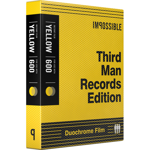 Impossible Third Man Records B&Y Duochrome Instant Film for 600 (Black Frame, 8 Exposures)