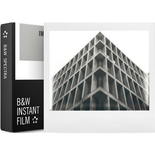 Impossible B&W Instant Film for Spectra/Image (White Frame, 8 Exposures)