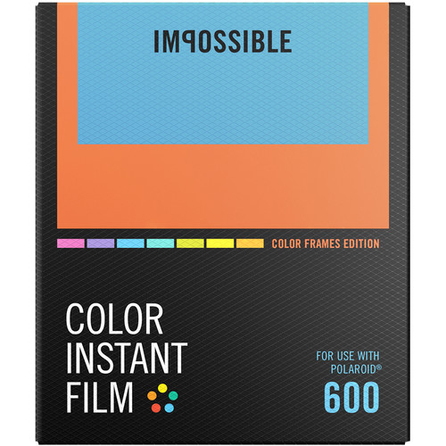 Impossible Color Instant Film for 600 (Color Frame, 8 Exposures)