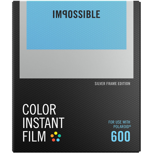 Impossible Color Instant Film for 600 (Silver Frame, 8 Exposures)