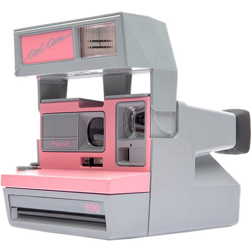 Impossible Polaroid 600 Cool Cam Instant Film Camera (Pink and Gray)