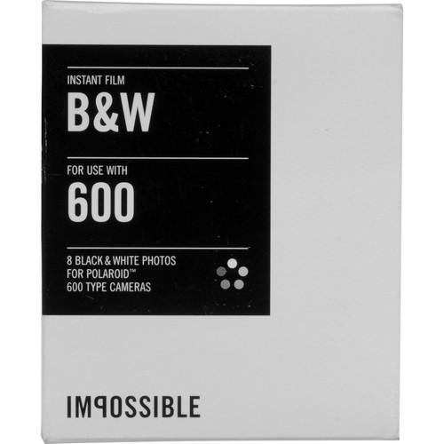 Impossible Instant Black & White Film for Polaroid 600-Type Cameras