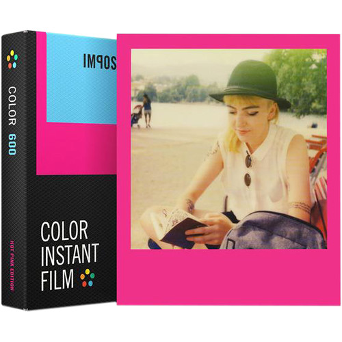 Impossible Color Instant Film for 600 (Hot Pink Edition, 8 Exposures)