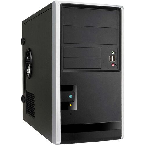 """In Win EM013 Mini Tower Chassis with 350W Power Supply, 2.5"""" and 3.5"""" Internal Bays"""
