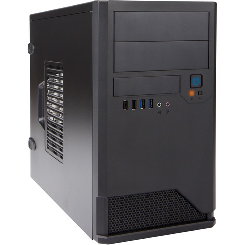 In Win EM048 Micro ATX Mini-Tower Chassis (Black)