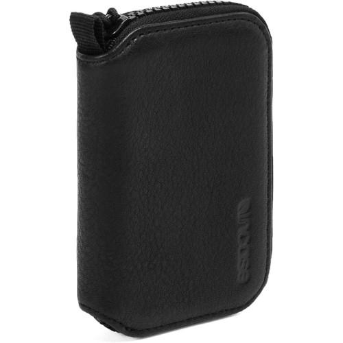 Incase Designs Corp Camera Memory Zip Wallet (Black, Leather)