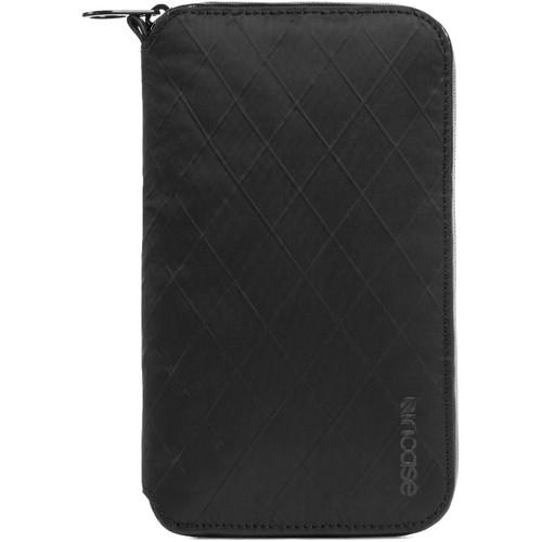 Incase Designs Corp Travel Passport Zip Wallet Diamond Wire (Black)