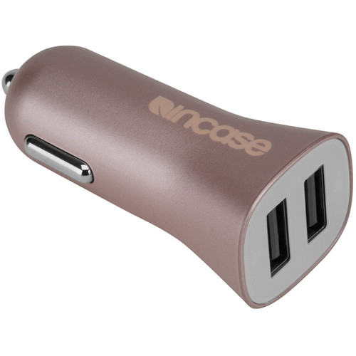 Incase Designs Corp High Speed Dual Car Charger (Rose Gold)