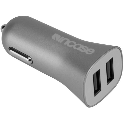 Incase Designs Corp High Speed Dual Car Charger (Gray)