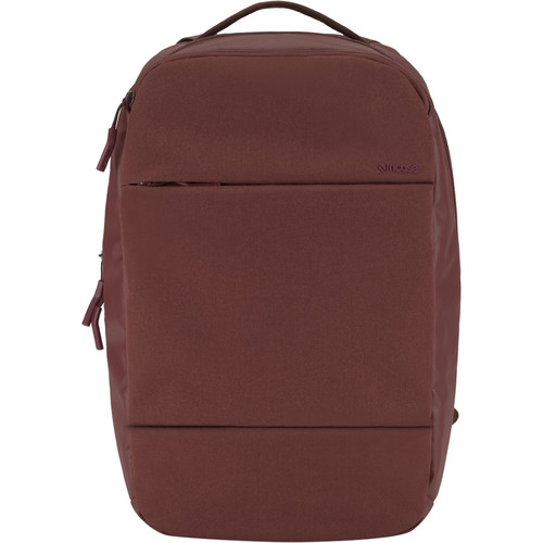 "Incase Designs Corp City Compact Backpack for 15"" MacBook Pro (Deep Red)"