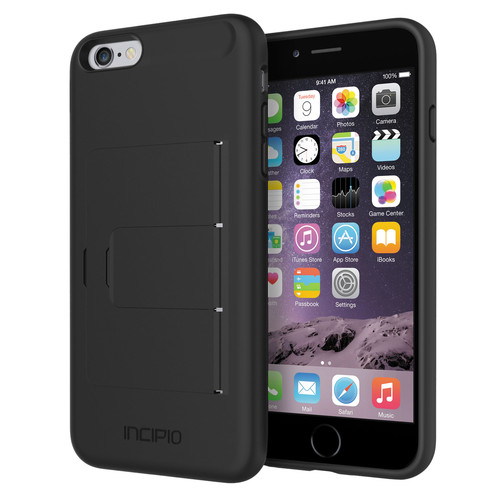 Incipio STOWAWAY Case for iPhone 6 Plus/6s Plus (Black)
