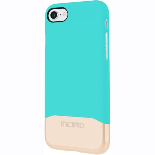 Incipio Edge Chrome Case for iPhone 7 (Turquoise/Champagne Chrome)