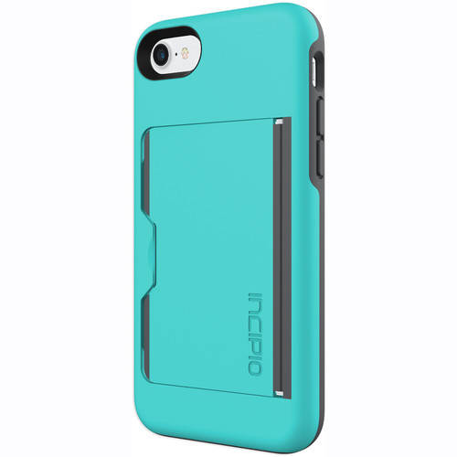 Incipio STOWAWAY Case for iPhone 7 (Turquoise/Charcoal)