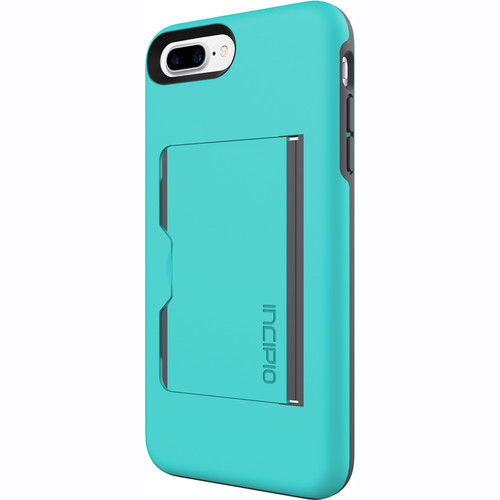 Incipio STOWAWAY Case for iPhone 7 Plus (Turquoise/Charcoal)