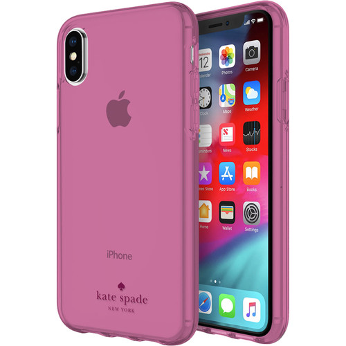 Incipio Kate Spade Flexible Case for iPhone XS (Tinted Strawberry Purple)