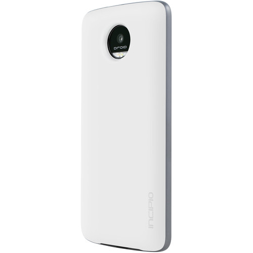 Incipio offGRID Battery Cover for Moto Z, Moto Z Droid, Moto Z Play, Moto Z Play Droid, & Moto Z Force (White)